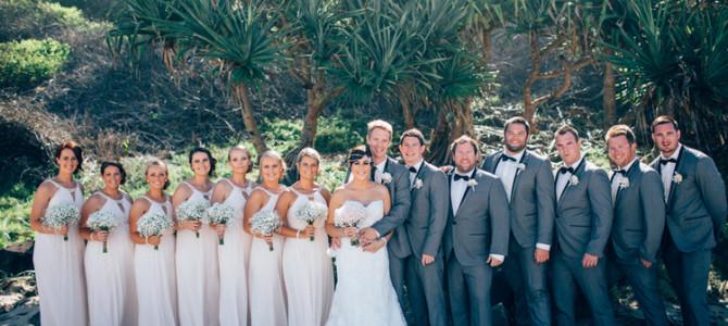 Katie & Shaun – Just Married {Shelly Beach, Ballina – Kim-Maree Summers Celebrant}